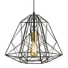 Geometric Black Cage Pendant Light