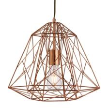 Geometric Copper Cage Pendant Light