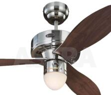 "Westinghouse Airplane II Ceiling Fan with Light - 42"" Brushed Nickel"