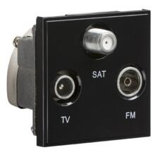 Triplexed TV /FM DAB/ SAT TV Outlet Module