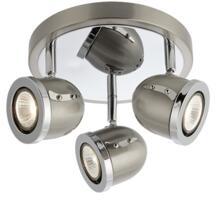 Satin Silver 3 Light Spotlight