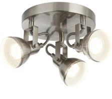 Satin Silver 3 Light Plate Spotlight