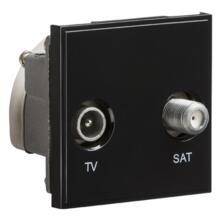 Diplexed TV /SAT TV Outlet Module