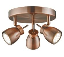 Antique Copper 3 Light Ceiling Spotlight