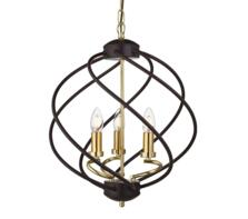Black Cage 3 Light Pendant