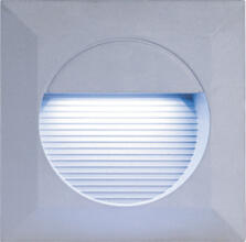 Grey Aluminium Square Recessed LED Wall Light