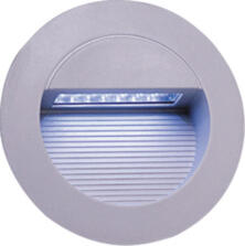 Grey Aluminium Round Recessed LED Wall Light