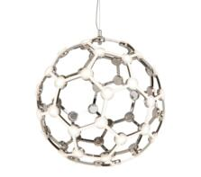 Chrome LED Globe Frame Pendant