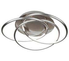 Satin Silver LED Flush Ceiling Light