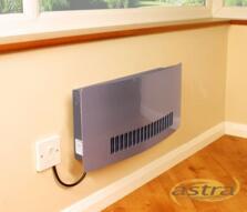 Consort Chelsea Wall Mounted Fan Heater -Aluminium