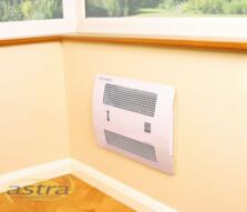 Consort Recessed Wall Mounted Fan Heater - White