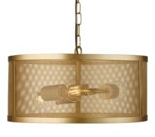 Matt Gold Fishnet Cage 3 Light Pendant