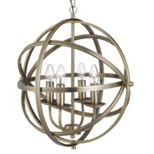 Vintage 4 Light Metal Cage Pendant AB