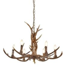 Stag 6 Light Antler Pendant Ceiling Light