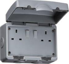 Outdoor IP66 2G Double Socket