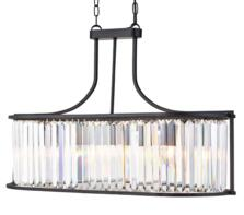 Matt Black 5 Light Oval Ceiling Pendant