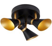 Matt Black & Gold 3 Light LED Spotlight