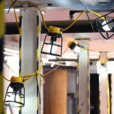Festoon E27 / GLS 10 Light Site Lighting Set Incl LED Lamps - 240V