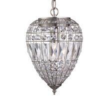 Satin Silver 1 Light Pendant Ceiling Light
