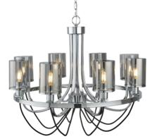 Chrome/Smoked Glass 8 Light Ceiling Fitting