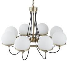 Antique Brass Sphere 8 Light Ceiling Light