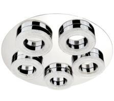 Chrome 5 Ring LED Flush Ceiling Light