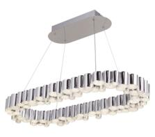 Chrome Darcy LED Oval Ceiling Pendant