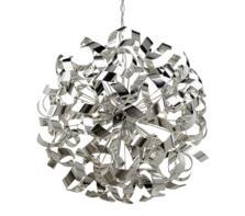 Chrome Curls 6 Light Metal Ceiling Pendant
