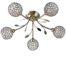 Antique Brass Bellis II Semi-Flush Ceiling Light