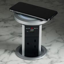 Motorised Pop Up Socket With QI Charger