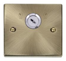Antique Brass Locking 20a DP Switch