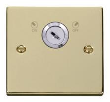 Polished Brass Locking 20a DP Switch