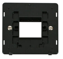 Screwless Matt Black Build Your Own Light Switch - 2 gang plate and cover