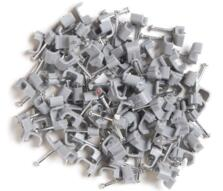 Cable Clips for Twin & Earth Cable - Flat - Grey