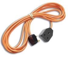 Extension Lead - 13A 1 Gang Single - Black Plug