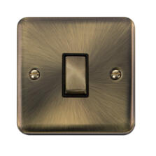 Curved Antique Brass Light Switch