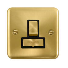 Curved Satin Brass 13A Fused Spur