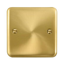 Curved Satin Brass Blank Plate