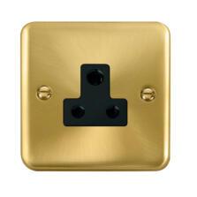 Curved Satin Brass Round Pin Socket
