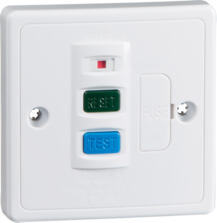 RCD 13A White Fused Spur