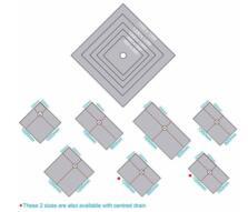 Marmox Showerlay Shower Tray - Centre Drain - 800mm x 800mm x 20mm