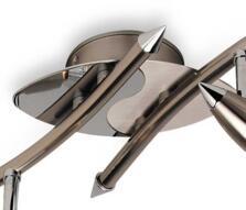 Dart Spotlight - Brushed Steel/Chrome 4 Light 9605 - Brushed Steel with Chrome