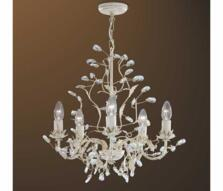 Almandite Chandelier - Cream Gold 2495-5CR