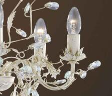 Almandite Chandelier - Cream Gold 2495-5CR - Cream Gold 5 Light