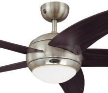 "Westinghouse Bendan Ceiling Fan with Light - 52"" Satin Chrome"