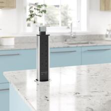 Sensiopod Slimline Stainless Steel Pop Up Socket - SE891900
