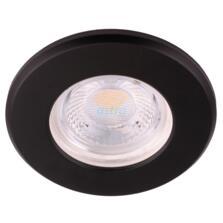 Matt Black 5w IP65 LED Fire Rated Downlight - 3000K Warm White Fitting
