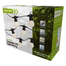 20 White LED Linkable Festoon String Lights 14.5m