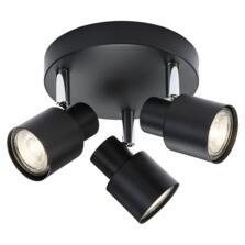 Matt Black 3 Light Spotlight Fitting