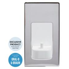 Electric Toothbrush Wall Charger Single Chrome - Polished Steel